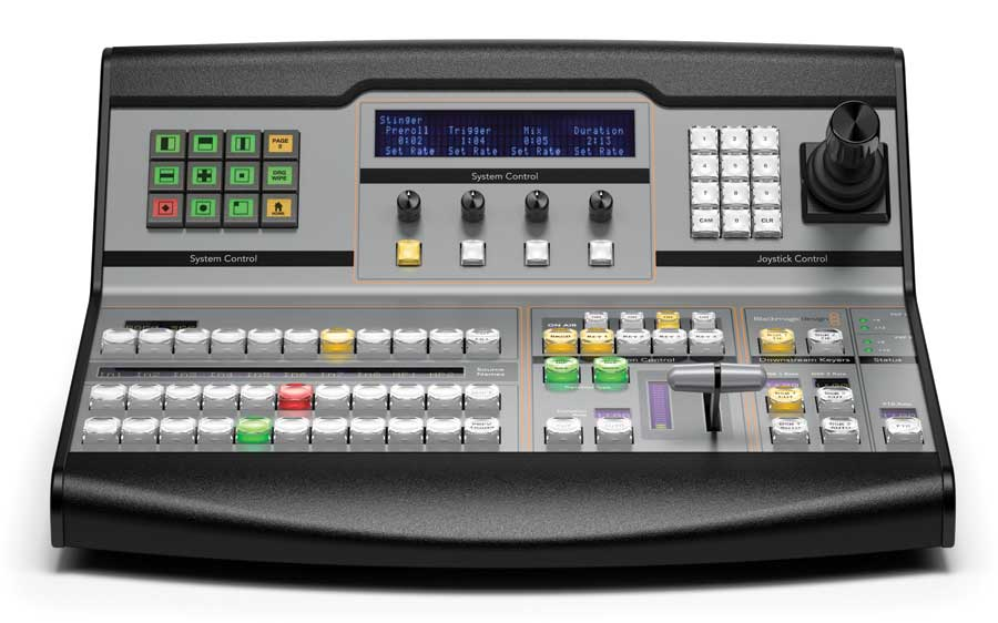 The ATEM 1/ME Broadcast Panel is a hardware control panel used to control the video switcher directly.